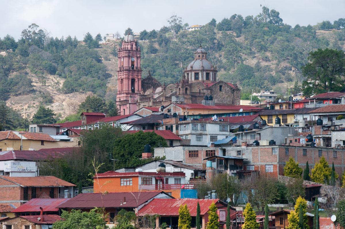 Panoramic view of Tlalpujahua Michoacán, México